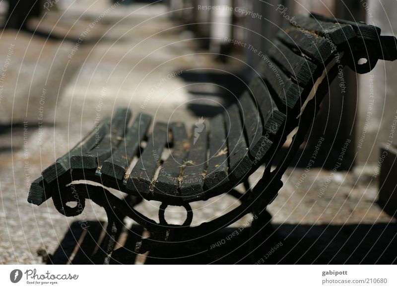 Old Calm Black Metal Empty Retro Bench Change Transience Past Nostalgia Iron Lisbon Peaceful Park bench