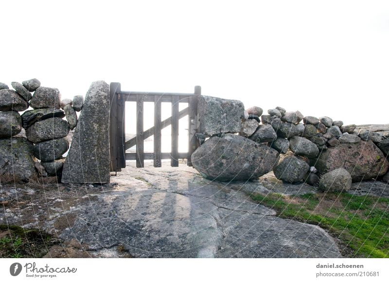 Old Wood Stone Wall (barrier) Bright Future Natural Exceptional Gate Border Fence Beautiful weather Nature Door Access Stone wall