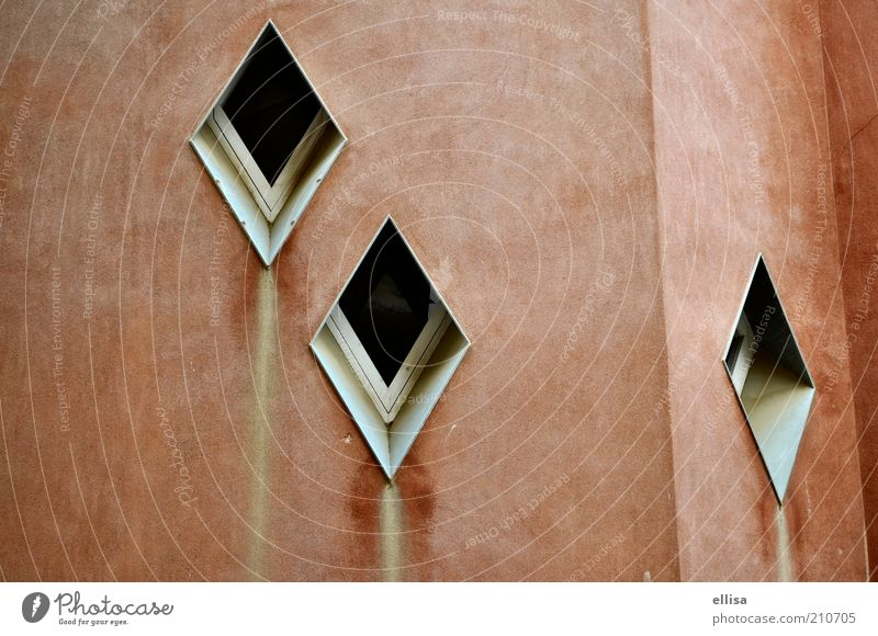 ears of windows Barcelona House (Residential Structure) Window Brown Red Güell Park Subdued colour Exterior shot Tourist Attraction Window pane Window frame