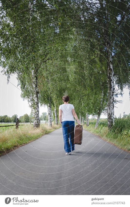 Treading new paths Life Vacation & Travel Tourism Trip Adventure Far-off places Human being Feminine Adults 1 Transport Street Lanes & trails Free Happiness
