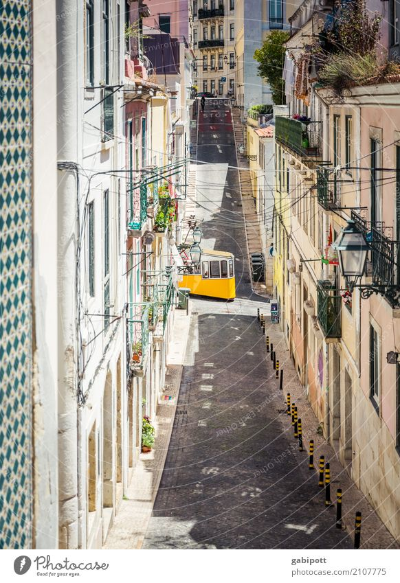 Lisbon Vacation & Travel Tourism Trip Sightseeing City trip Portugal Town Capital city Port City Downtown Old town Facade Transport Means of transport