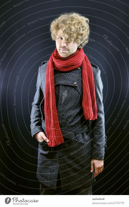 Human being Man Youth (Young adults) Beautiful Red Style Gray Fashion Blonde Adults Masculine Elegant Clothing Lifestyle