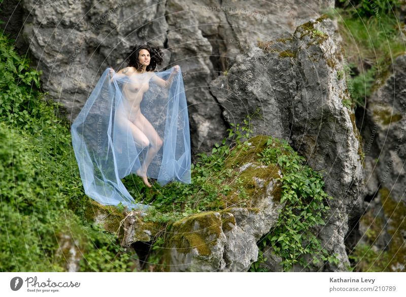 Woman Human being Nude photography Beautiful Summer Eroticism Life Feminine Naked Mountain Spring Freedom Gray Landscape Adults Environment