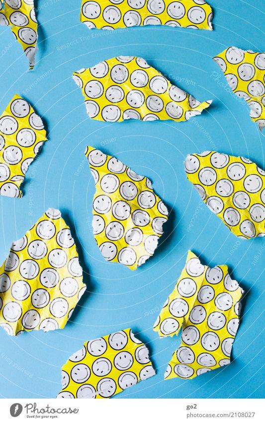 Blue Joy Yellow Funny Happy Contentment Happiness Joie de vivre (Vitality) Gift Paper Sign Anger Surprise Trash Argument Positive