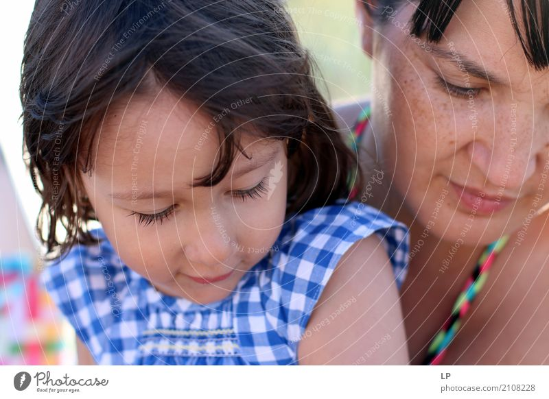 Daughter and mother Lifestyle Contentment Mother's Day Parenting Education Kindergarten Study Human being Feminine Child Girl Young woman Youth (Young adults)
