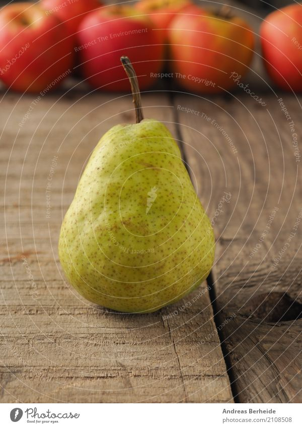 One pear Fruit Organic produce Vegetarian diet Diet Fasting Delicious Sweet agriculture apples food fresh freshness green healthy ingredient natural nutrition
