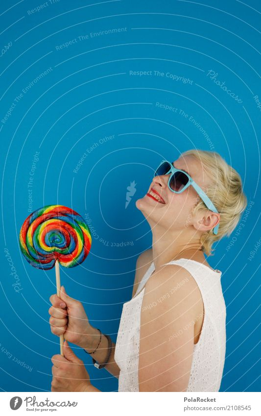 #A# Delicious Art Work of art Esthetic Lollipop Multicoloured Sugar Candy cane Sunglasses Absurdity Blue Joy Comical Funster The fun-loving society Laughter