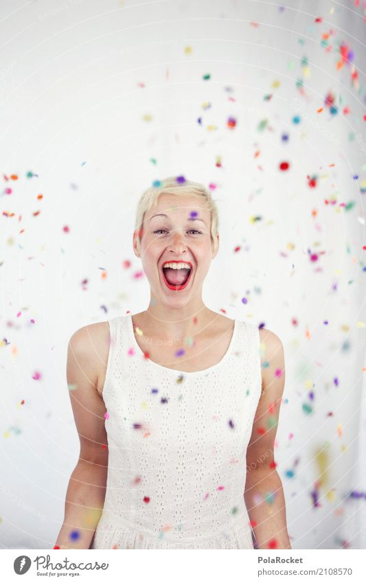 Colour Joy Art Party Esthetic Birthday Surprise Work of art Party goer Confetti Comical Funster Party mood The fun-loving society