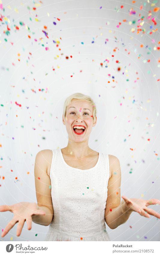 #A# Confetti rain Art Work of art Esthetic Woman Many Multicoloured Joy Surprise Bonfire Gift Comical Funster The fun-loving society Party mood Birthday