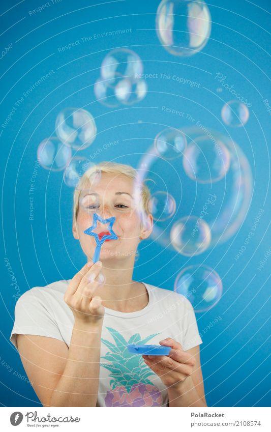 #A# Soapballs Art Work of art Esthetic Soap bubble Joy Joybringer Comical Funster The fun-loving society Ease Many Woman Colour photo Multicoloured