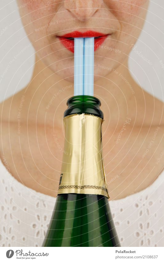 #A# double pops better Art Work of art Esthetic Sparkling wine Champagne bottle Blade of grass Lips Delicious Thirst Thirst-quencher Cold drink Thirsty