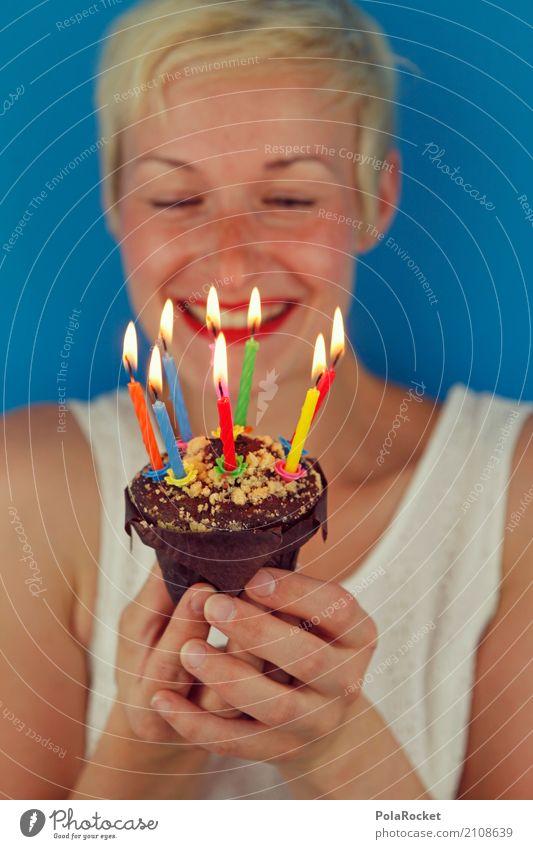 #A# Surprise! Art Work of art Esthetic Birthday Birthday cake Birthday gift Birthday wish Candle Muffin Joy Bonfire Joybringer Woman Colour photo Subdued colour