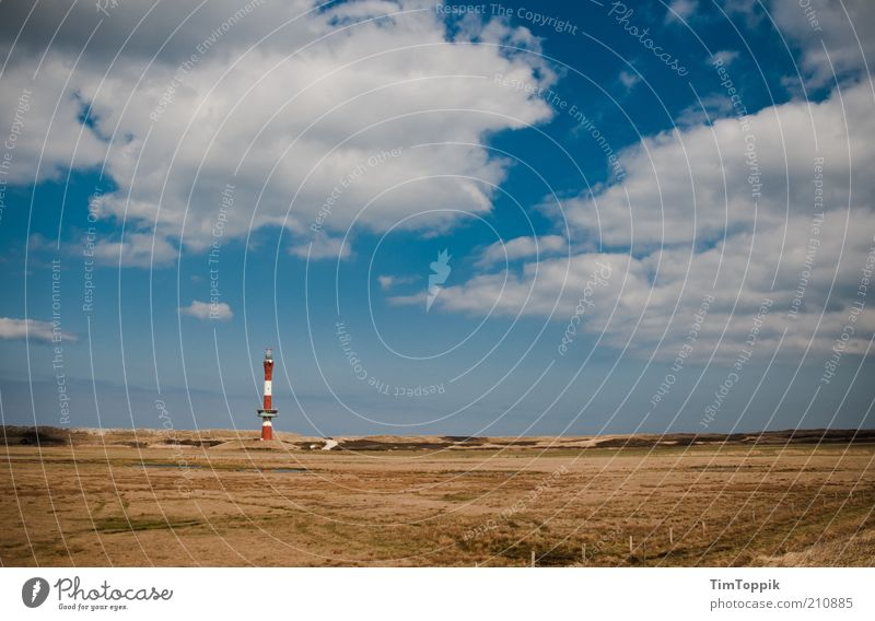 Like the land, like the island Beautiful weather Coast North Sea Island Blue Horizon Clouds Clouds in the sky Lighthouse Wangerooge Ocean Dune Beach dune