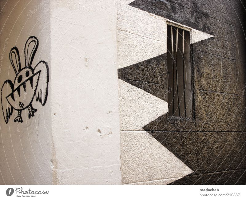 Wall (building) Style Wall (barrier) Graffiti Design Lifestyle Sign Detail Hip & trendy Art Zigzag Comic strip character