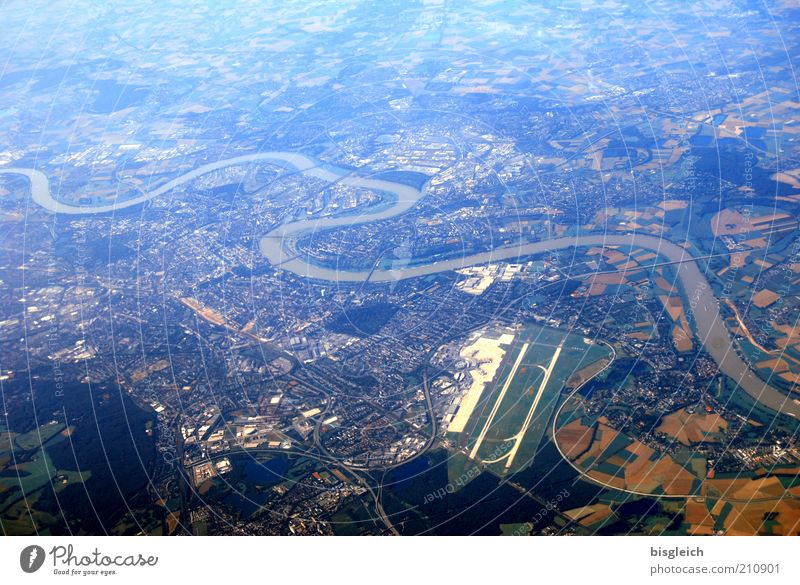 City Blue River Wanderlust Aerial photograph Bird's-eye view Airfield