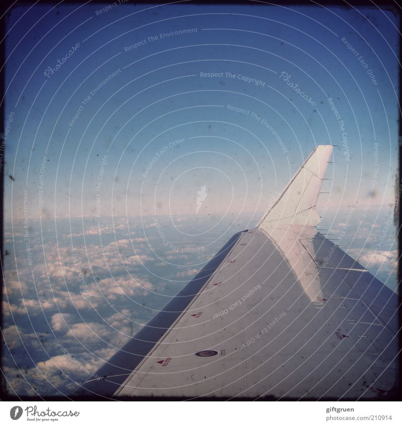 Sky Vacation & Travel Clouds Far-off places Freedom Airplane Flying Horizon Transport Aviation Technology Tourism Wing Universe Machinery Passenger traffic