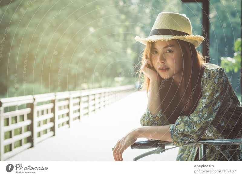 beautiful young asian girl have a happy time alone Human being Lifestyle Sports Style Art Fashion Design Adventure Artist