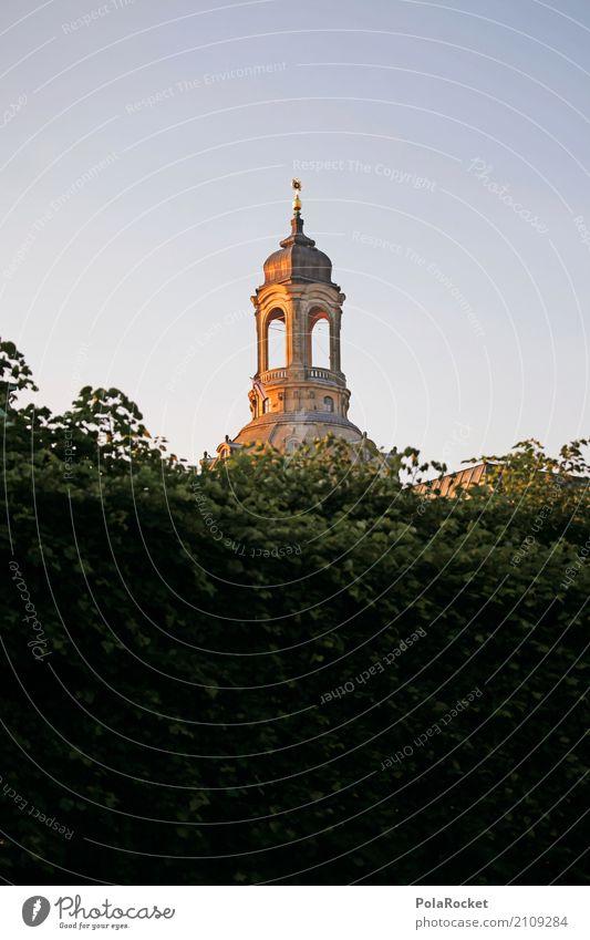 #A# Dresden sun Art Esthetic Frauenkirche Domed roof Saxony Tourist Attraction Landmark Gold City trip Tourism Tower Church Brühlsche Terrasse Baroque