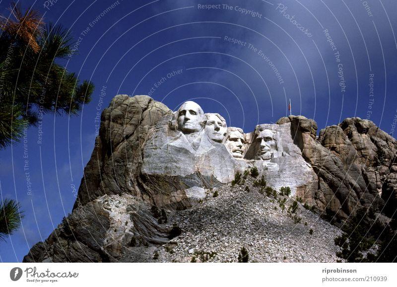 Mount Rushmore Rock Landmark Monument Vacation & Travel Gigantic Watchfulness Politics and state Colour photo Exterior shot Long shot