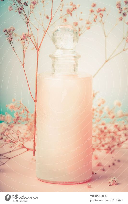 Beautiful Flower Lifestyle Healthy Feminine Style Pink Design Skin Shopping Wellness Personal hygiene Cosmetics Bottle Cream Pastel tone