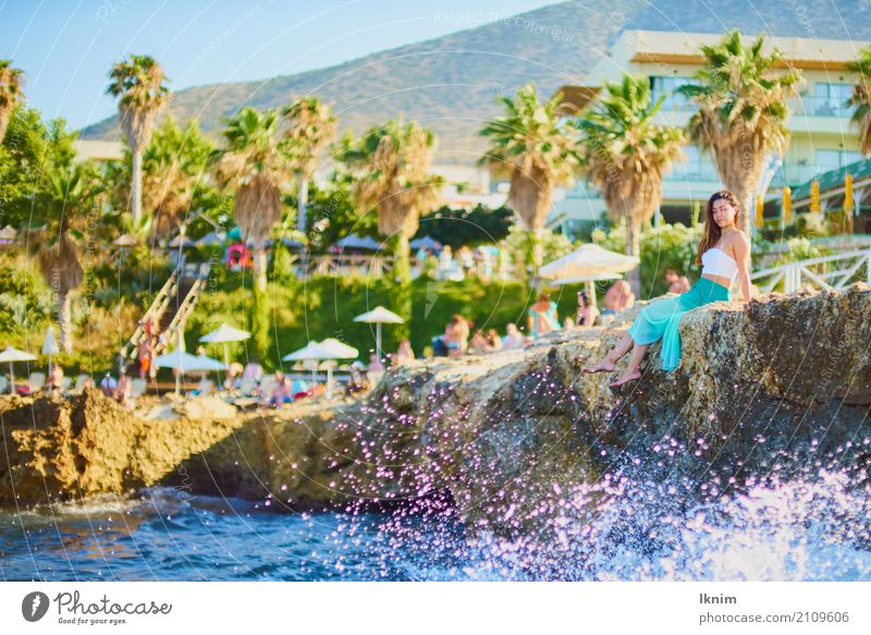 Human being Vacation & Travel Youth (Young adults) Young woman Summer Beautiful Sun Ocean Relaxation Calm Beach 18 - 30 years Adults Life Lifestyle Healthy