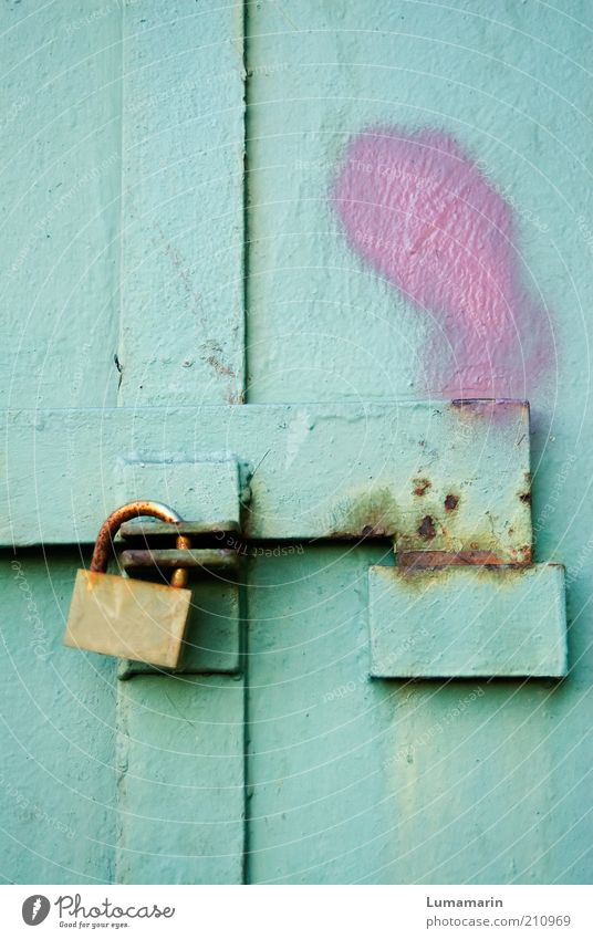 Beautiful Old Colour Freedom Bright Metal Pink Door Closed Fresh Safety Retro Simple Protection Uniqueness Firm