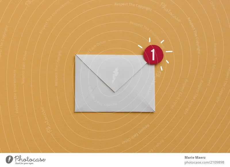 You have mail - illustration of an e-mail symbol Office Mail Business Career Internet Reading Write Esthetic Brash New Yellow Success Curiosity Interest