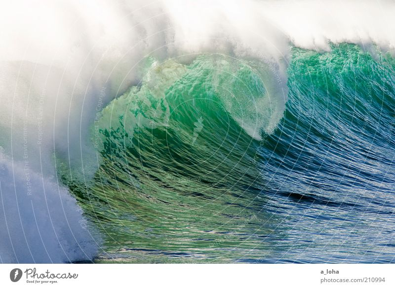 Nature Water Ocean Green Blue Summer Far-off places Movement Power Coast Waves Glittering Large Might Drop Uniqueness