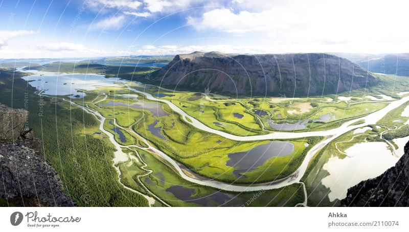 Sarek, I'm coming! Relaxation Calm Meditation Landscape Beautiful weather Mountain Bog Marsh River Delta Sweden Exceptional Free Blue Green Loneliness Energy