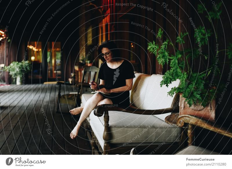 Human being Woman Vacation & Travel Youth (Young adults) Young woman Calm 18 - 30 years Black Travel photography Adults Feminine Garden Contentment Idyll Sit