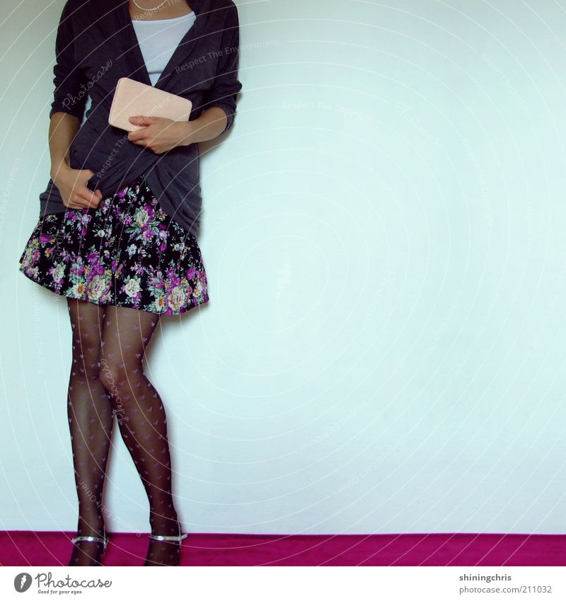 Human being Youth (Young adults) Feminine Style Contentment Dance Fashion Adults Pink Design Elegant Clothing Lifestyle Woman Cool (slang) Stand
