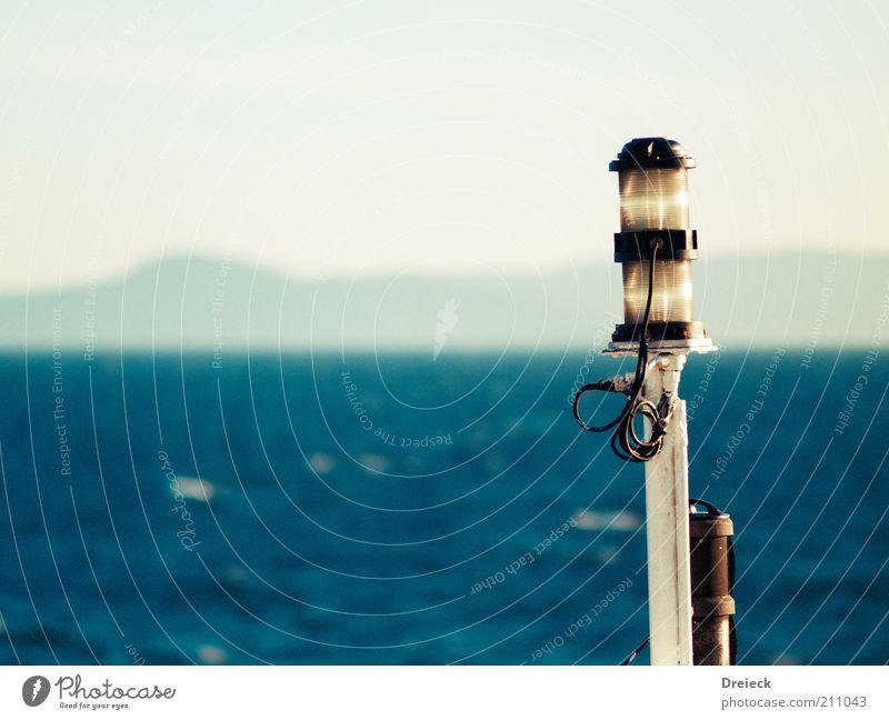 hydrocephalus Ocean Environment Water Summer Isle of Aran Scotland Europe Navigation Boating trip Watercraft On board Vacation & Travel Blue White Lamp