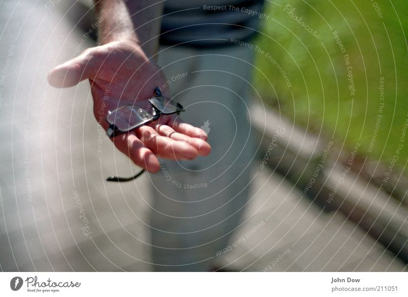 Human being Hand Arm Fingers Help Eyeglasses Analog Wisdom Social Give Offer Needy Compassion Offer Person wearing glasses Vision