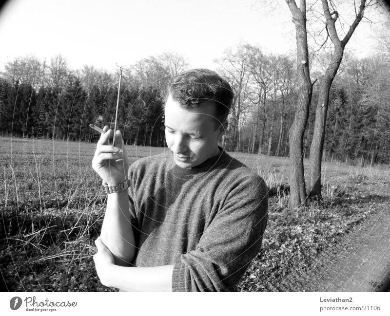 Smokin' Joe I April Cigarette Man To go for a walk Nature Smoking Walking