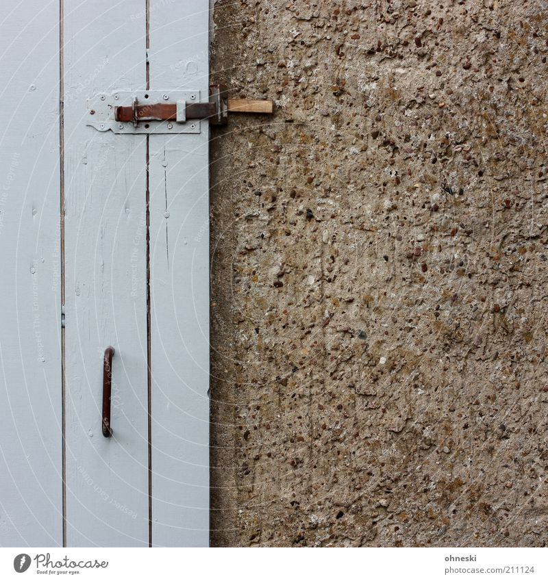 Wall (building) Gray Wall (barrier) Building Door Facade Closed Hut Lock Door handle Barn Locking bar Wooden door Rendered facade