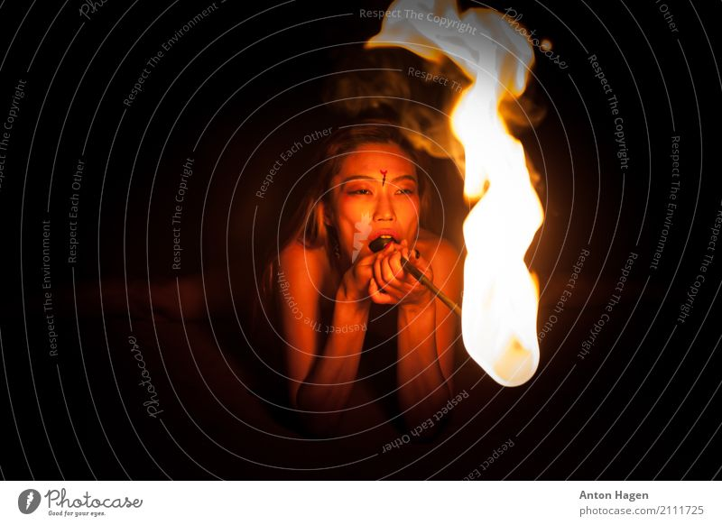 Don't play with me cause you playing with fire Human being Youth (Young adults) Young woman Summer Eroticism Dark 18 - 30 years Adults Lifestyle Elegant