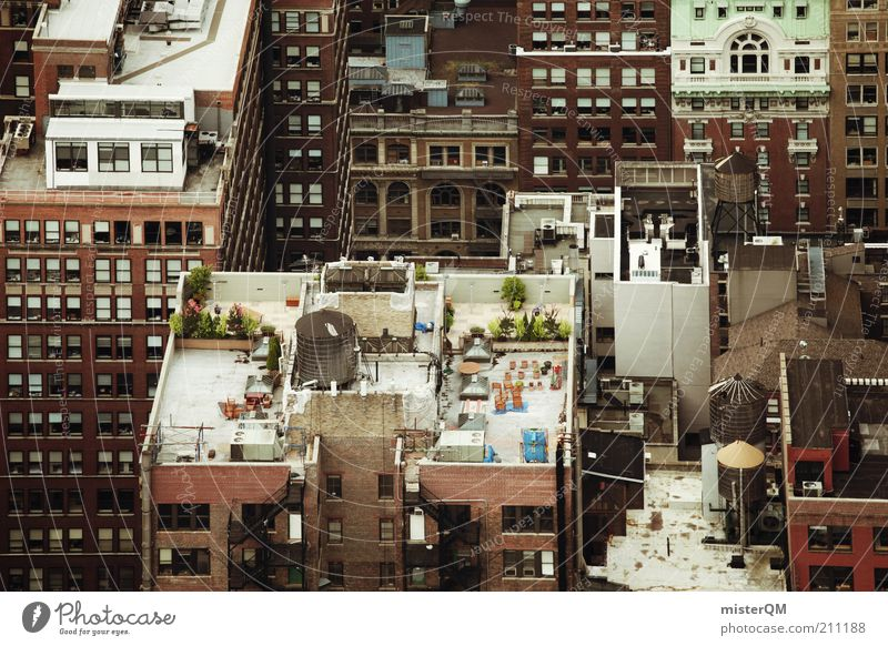 House (Residential Structure) Building Architecture Roof Under Many Downtown Chaos New York City Manhattan Characteristic Time