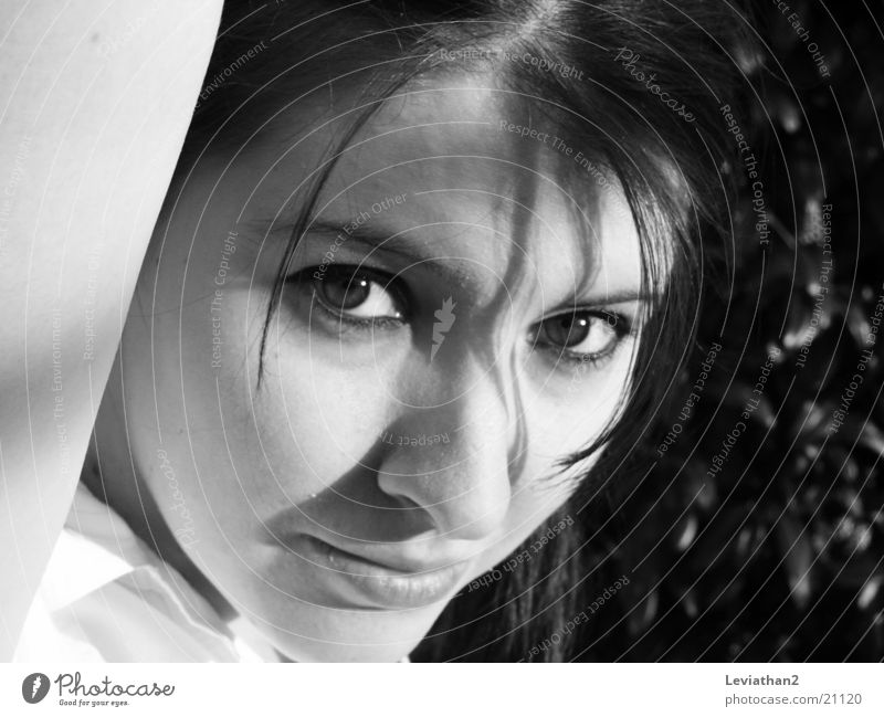 Woman Face Think Facial expression Timidity Skeptical Mistrust