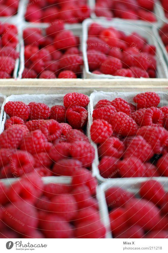 raspberries Food Fruit Nutrition Organic produce Vegetarian diet Fresh Healthy Small Delicious Juicy Sweet Red Farmer's market Market stall Raspberry Berries