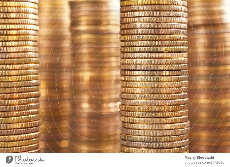 golden coins Business Metal Gold Creativity Success Money Financial institution Economy Career Accumulation Conceptual design Stack Save Financial Industry Heap