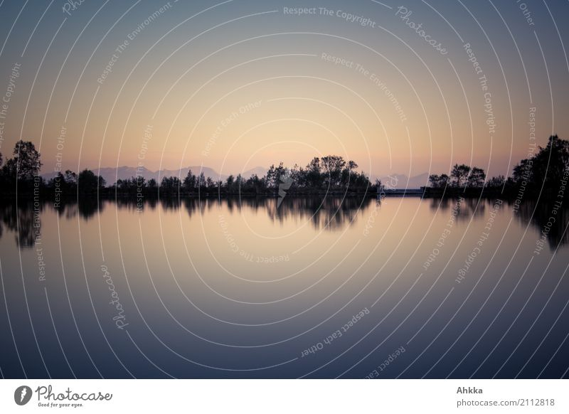 Sky Water Landscape Relaxation Loneliness Calm Moody Horizon Contentment Idyll Uniqueness Lakeside Well-being Harmonious Cloudless sky Meditation