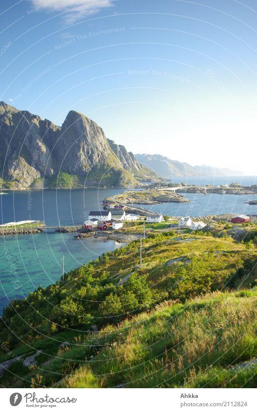 Pure, Lofoten, island atmosphere Harmonious Contentment Senses Relaxation Calm Vacation & Travel Trip Adventure Far-off places Summer vacation Landscape