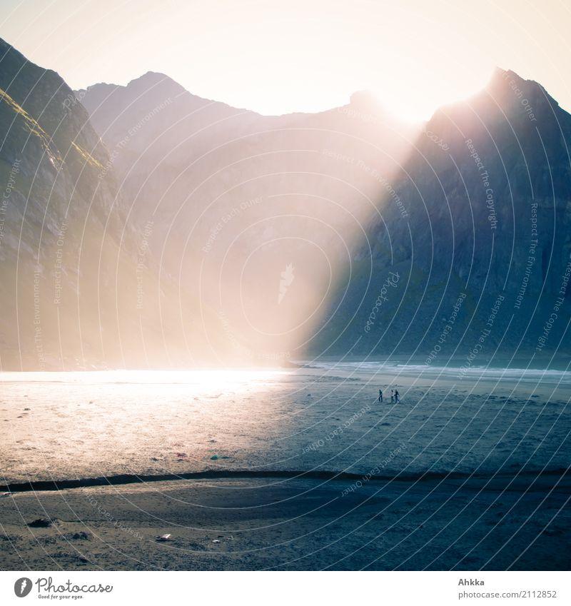 Human being Sun Calm Beach Mountain Life Emotions Coast Exceptional Contentment Illuminate Fantastic Uniqueness Change Curiosity Elements