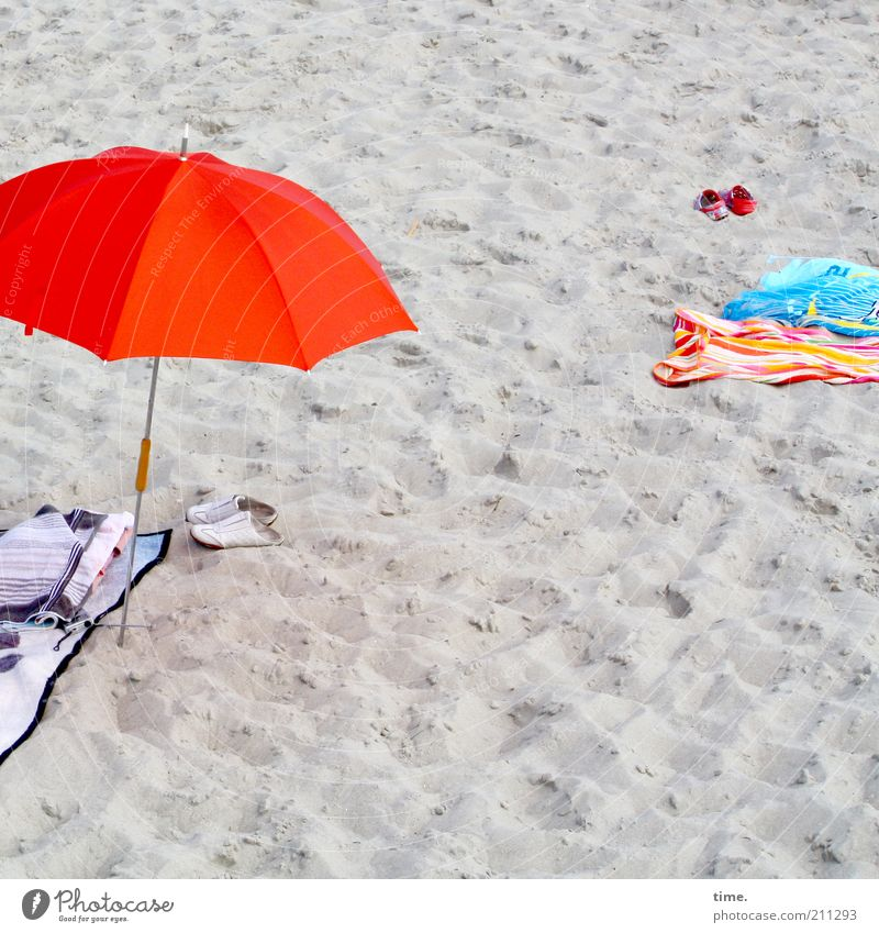 beach weed Vacation & Travel Summer Beach Sand Footwear Red Umbrellas & Shades Sunshade bath sheet Towel Blanket bathing things Swimwear Weather protection
