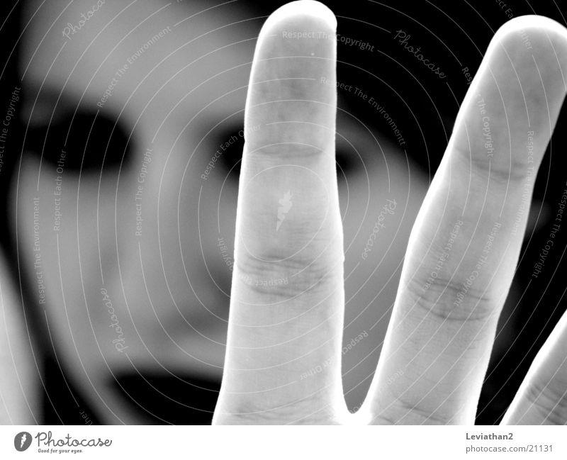 No way ... Hand Stop Stay Gesture Dark Woman Contrast