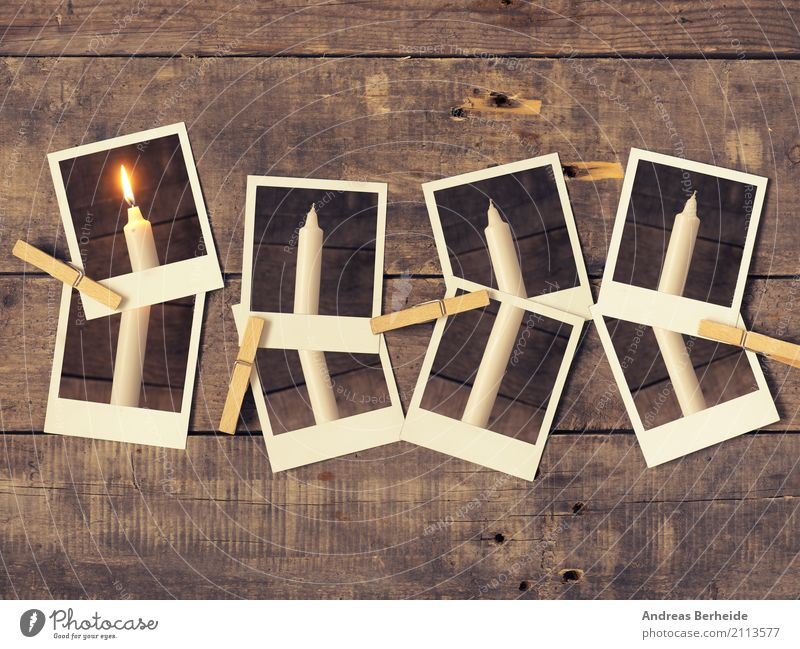 First Advent Winter Christmas & Advent Old Hot Retro Tradition Photography Candle advent candle christmas holidays Romance Wooden table Rustic wooden staples