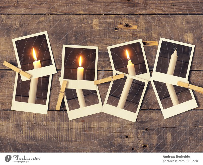 third Advent Winter Christmas & Advent Retro Tradition candlelight greeting Fleming card merry conceptual december fourth eve Photographer instant photo old