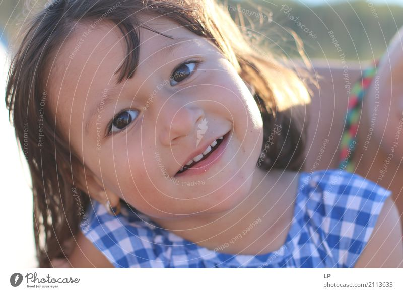 happy smiling girl Lifestyle Wellness Contentment Calm Leisure and hobbies Children's game Parenting Education Kindergarten Human being Girl Parents Adults