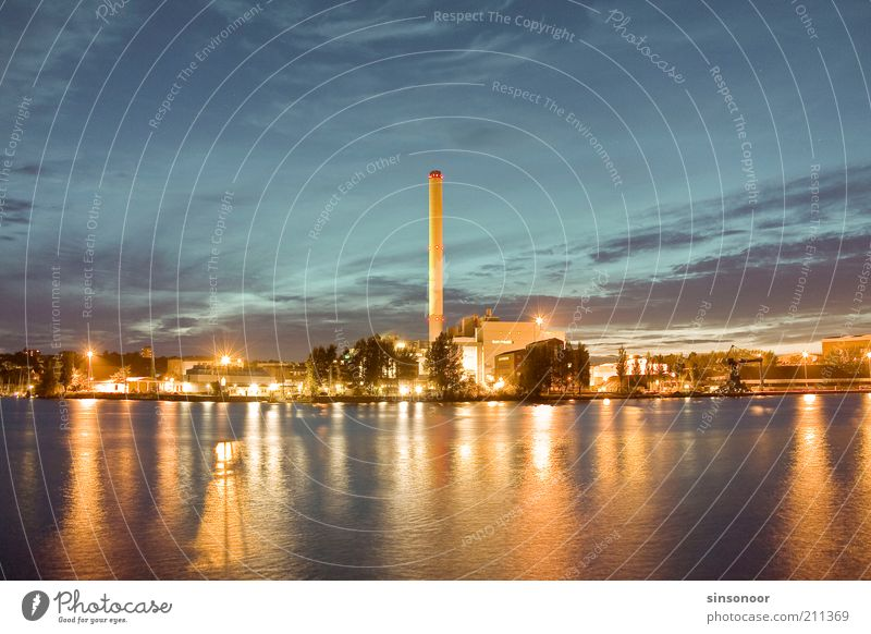 Water Energy Harbour Skyline Chimney Electricity Industrial plant City Thermal power station Industry Reflection Economy Flensburg Coal power station Port City
