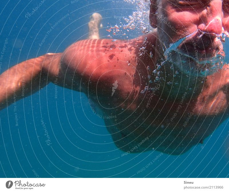 Human being Vacation & Travel Man Naked Blue Water Ocean Relaxation Face Adults Life Movement Tourism Swimming & Bathing Leisure and hobbies Masculine